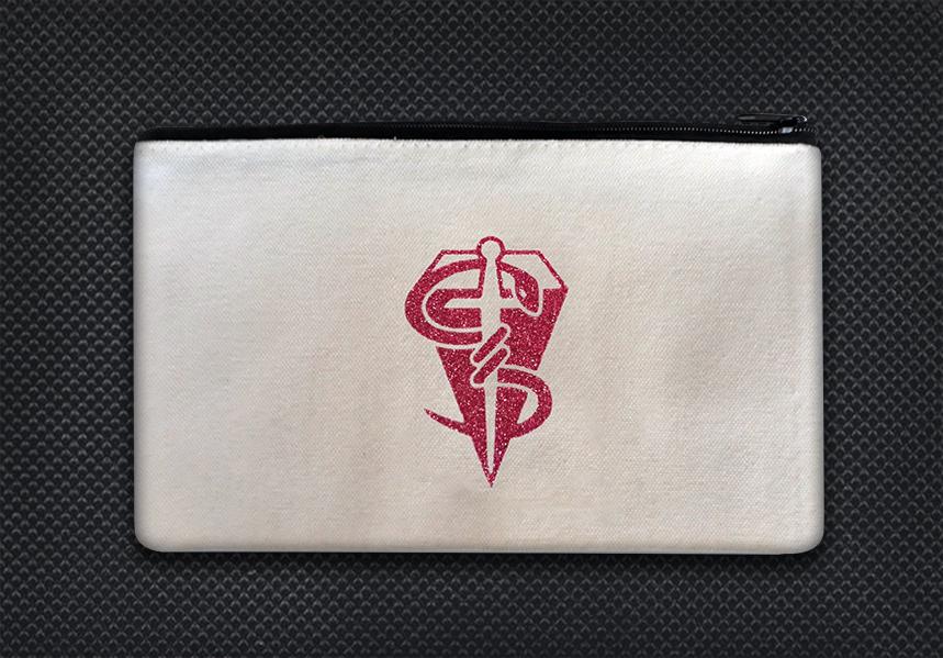 White case pink sparkle logo boo boo kit