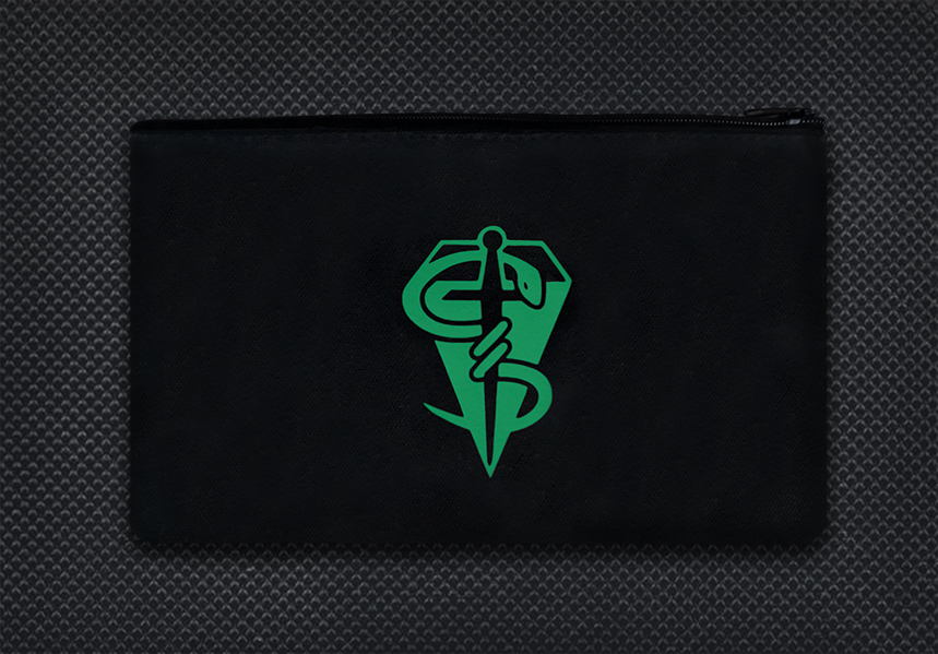 Black case Green logo boo boo kit