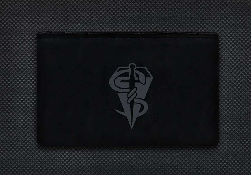 Black case gun metal grey logo boo boo kit